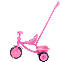 【当当自营】FisherPrice费雪儿童三轮手推车1~3岁宝宝脚踏车拆叠滑行车儿童可坐人玩具车202C粉色