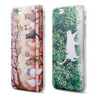 【全国包邮】hidog 苹果6s plus手机壳5.5卡通防摔iPhone6plus保护套日韩猫咪软