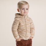 davebella戴维贝拉男童宝宝新款加厚保暖雪尼尔外套