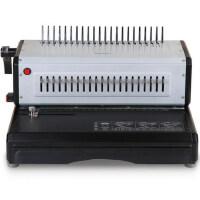 得力3883电动梳式装订机 夹条压条装订机 胶圈装订机文件打孔器