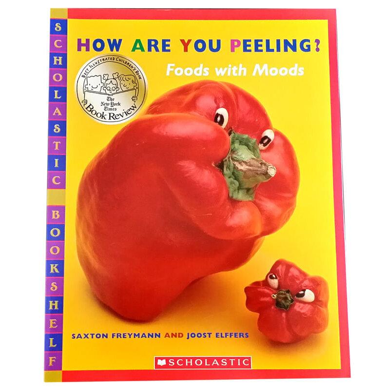 作者善于运用各种蔬果的形状塑出不同的表情,配合文字来造就故事的图片