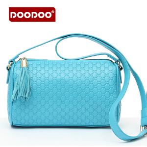 DOODOO 2017新款包包女包休闲手包欧美风真皮小流苏单肩小包时尚斜跨女士包包 D3000