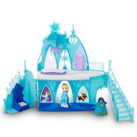 孩之宝 迪士尼 冰雪奇缘艾莎冰雪城堡套装人偶娃娃 女孩玩具礼