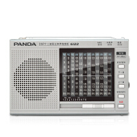 【当当自营】 熊猫/PANDA 6122 收音机 全波段便携式指针外放插卡老人迷你半导体