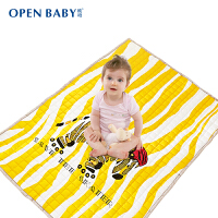 欧培 婴儿爬行垫 宝宝游戏垫 加厚棉质爬行垫斑马款