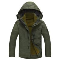 战地吉普AFS JEEP2015户外冲锋衣 男装 可脱卸帽保暖两件套三合一外套