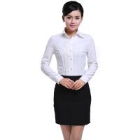 修身工装衬衫 秋冬棉女式衬衫长袖 职业女白领衬衫职场女装制服套装女装