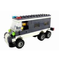 救护警察车益智儿童赠品玩具3-12岁塑料积木拼插拼装万格正品军事
