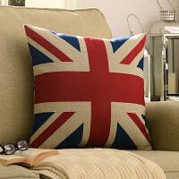 奇居良品 美式沙发床头靠垫套抱枕套方枕腰枕 英国国旗