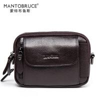 MANTOBRUCE/蒙特布鲁斯 户外运动休闲腰包多功能腰包斜挎男士包