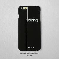 简约文字苹果7/6S/iPhone6/7 plus手机壳个性黑白套半包磨砂硬壳