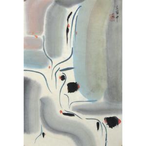 吴冠中已逝美术大师、当代著名画家、美术教育家 山水