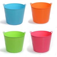 普润 大号带出水口环保塑料储水桶 儿童沐浴桶 婴儿沐浴盆 杂物桶 桶储物 收纳桶 绿色