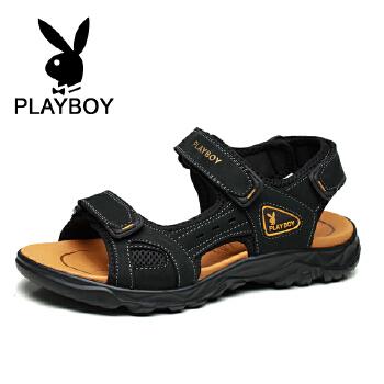 花花公子 男士凉鞋沙滩鞋耐磨透平底鞋英伦韩版凉拖鞋男 德 CX39513
