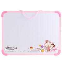 得力7803儿童画板30*40Cm白板挂式早教磁性家用小黑板写字记事板