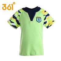 361度男童短袖T恤 夏季男童纯棉中大童圆领运动衫