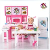 全店满99包邮!乐吉儿大厨房洋布芭比娃娃套装礼盒正品2014女孩过家家玩具