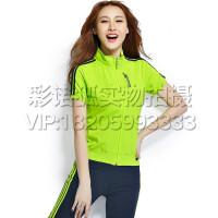 2016运动套装女夏2016新款短袖长裤晨练跑步运动服大码两件套休闲套装