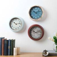 奇居良品 美式客厅卧室办公创意个性金属铁艺数字墙面装饰挂钟 多款