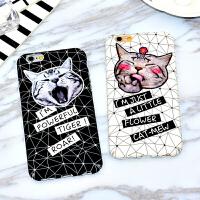 可爱猫咪全包硬壳iPhone6/6plus磨砂手机壳苹果6s超薄卡通保护套