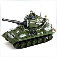 全店满99包邮!邦宝 军事战争拼装积木 儿童益智拼插塑料积木玩具 T34坦克8236
