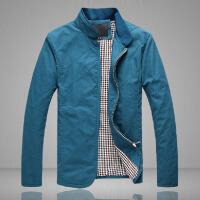 秋冬新款韩版英伦风男修身立领夹克都市休闲男士外套潮大码男士夹克外套