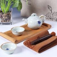 尚帝 1壶2杯办公套装带竹托盘 整套功夫茶具套装 特价茶具陶瓷 2014YEB4K