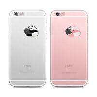 【全国包邮】hidog 苹果iPhone6s手机壳卡通熊猫情侣个性创意6plus保护套软硅胶