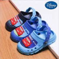 包邮新款迪士尼夏季儿童童鞋男童防滑洞洞鞋凉拖鞋学步鞋宝宝凉鞋