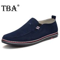 日常男士商务休闲鞋户外懒人套脚男鞋牛头酋长(TBA)意式手工真皮鞋防滑减震鞋