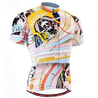 男款夏季短袖骑行服套装单自行车骑行赛车服排汗 透气运动服
