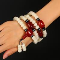 戴和美 精选天然白菩提根手链搭配红玛瑙DIY精致108颗佛珠手链/项链