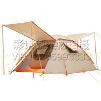 速开折叠自动帐篷 户外3-4人钓鱼防雨遮阳罩 公园沙滩休闲双层帐篷 草地郊外野餐露营帐篷