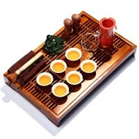 尚帝 红茶功夫茶具 陶瓷茶具实木茶盘套装红金龙 T-X6K99X1