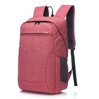 巴米克 大容量韩版潮笔记本电脑双肩背包男女士学生书包旅行包商务休闲包14寸-15.6寸