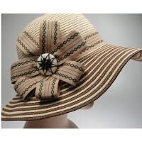 英伦优雅礼帽沙滩韩版沿帽太阳帽遮阳帽草帽夏天女帽子
