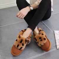 青婉田 时尚女靴雪地靴厚底平地短筒靴冬靴女靴子8182