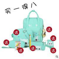新款帆布印花学生包双肩背包韩版潮流女包休闲旅行包书包