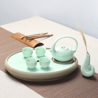 思故轩青瓷干泡茶盘 整套功夫茶具套装陶瓷茶盘茶托茶杯茶壶CJT1719