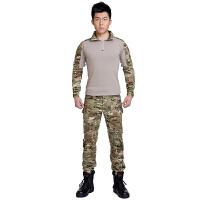 运动户外短袖弹力T恤真人CS战术服青蛙服套装 男紧身 军迷装备