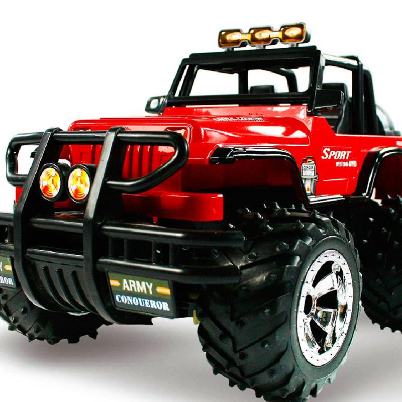 胜雄1:14遥控车 遥控越野车 悍马儿童玩具车遥控汽车颜色随机