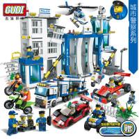 一号玩具 古迪积木警察局乐高城市系列警察飞机汽车拼装积木玩具男孩6岁