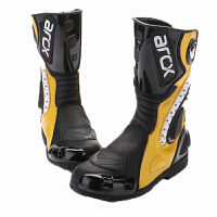 ARCX MOTORCYCLE BOOTS 黑色公路摩托车赛车靴越野防水高筒靴