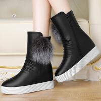 莫蕾蔻蕾马丁靴中筒雪地靴女靴新款秋冬季2016学生棉鞋靴子女鞋平底英伦风 6d612
