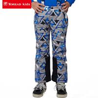 探路者童装 男童户外风格系列滑雪裤儿童冬裤