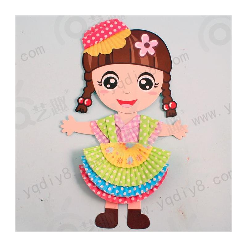 儿童礼物幼儿礼物幼儿园手工材料手工diy儿童手工diy-服装设计师_女孩