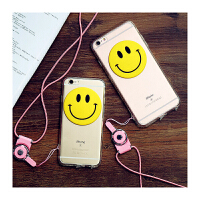 【包邮】智尚 潮款笑脸iphone6 plus手机壳透明硅胶软苹果6S手机壳5S保