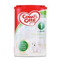 【当当海外购】英国进口Cow&Gate牛栏婴幼儿配方奶粉1段(0-6个月宝宝 900g)【外观轻微破损 不影响食用】