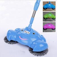 家用手推式扫地机手动吸尘器 魔法扫把扫帚吸尘扫把 蓝色