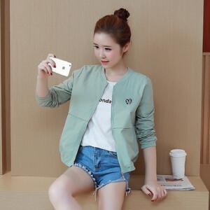 【当当年中庆】波柏龙 春夏新款百搭长袖纯色外套棒球服防晒衣女装